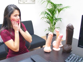 Comes for a job (as webcamgirl) and ends with a blowjob. SHE WAS JUST TOO MUCH A SLUT (Look how she cums in pleasure).